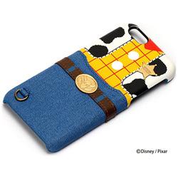 iPhone 6s/6用 PUレザーケース ポケット付き ウッディ PG-DCS121WDY