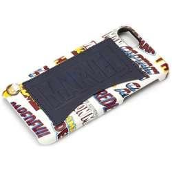 iPhone 7用 MARVEL ハードケース ポケット付き ロゴ / ブルー PG-DCS162MVL