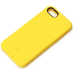 iPhone 7用 シリコンソフトケース イエロー PG-16MSC05YE