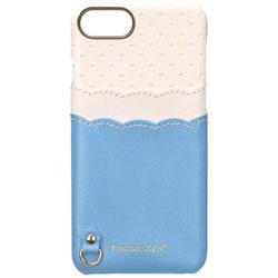 iPhone 7 / 6s / 6用 バックポケットケース Scallop Dot ブルー PG-16MCA08BL