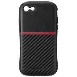 iPhone 7用 タフポケットケース カーボン調ブラック PG-16MCA19BK