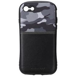 iPhone 7用 タフポケットケース ミリタリーグレー PG-16MCA20GY