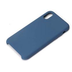 iPhone X用 シリコンケース ネイビー PG-17XSC04NV