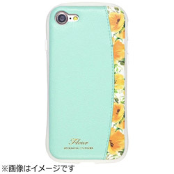 iPhone 7用 FLEUR Protector Pocket ミント iP7-FLEP06
