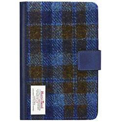 iPad mini 4用 薄型ファブリックケース Harris Tweed B ブルー LEPLUS LP-IPM4HTB