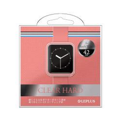 Apple Watch 42mm ハードケース LP-AW42HGCPK クリアピンク