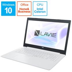 NEC(エヌイーシー) ノートPC LAVIE Note PC-NS100K2W [Win10 Home・Celeron・15.6インチ・Office付き・ストレージ 500GB・メモリ 4GB]
