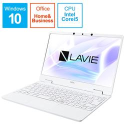 NEC(エヌイーシー) ノートパソコン PC-NM550RAW パールホワイト [12.5型 /intel Core i5 /SSD:256GB /メモリ:8GB /2020年春モデル]