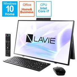 NEC(エヌイーシー) PC-HA970RAB デスクトップパソコン LAVIE Home All-in-one(HA970/RA ダブルチューナ搭載) ファインブラック [27型 /HDD:3TB /SSD:256GB /メモリ:8GB /2020年春モデル]