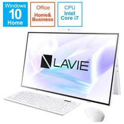 NEC(エヌイーシー) PC-HA700RAW デスクトップパソコン LAVIE Home All-in-one(HA700/RA) ファインホワイト [27型 /SSD:512GB /メモリ:8GB /2020年春モデル]