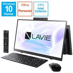 NEC(エヌイーシー) PC-HA370RAB デスクトップパソコン LAVIE Home All-in-one(HA370/RA シングルチューナ搭載) ファインブラック [23.8型 /HDD:1TB /メモリ:8GB /2020年春モデル]