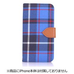 iPhone 7用 Diary Check ブルー Fantastick I7N06-16B759-14