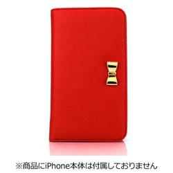 iPhone 7用 Wallet Case Ribbon レッド Fantastick I7N06-16B761-06