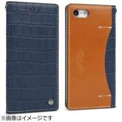 iPhone 7用 Premium Croco ネイビー Wetherby I7N06-16B767-15