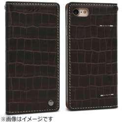 iPhone 7用 Premium Croco ダークブラウン Wetherby I7N06-16B767-19
