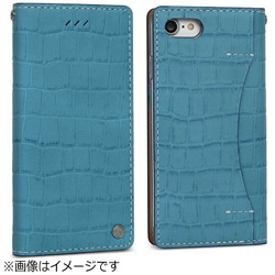 iPhone 7用 Premium Croco ブルー Wetherby I7N06-16B767-14