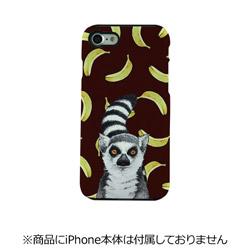 iPhone 7用 TOUGH CASE Animal Series Ring Tailed Lemur & Banan Fantastick I7N06-16C787-04