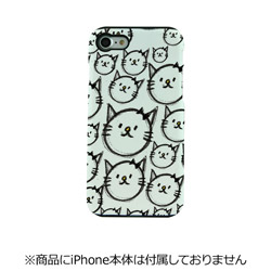 iPhone 7用 TOUGH CASE Animal Series Cats white Fantastick I7N06-16C787-07