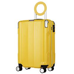 防犯ブザー搭載スーツケース 35L TRAVEL BUZZER(トラベルブザー) イエロー 6708-49-YE [TSAロック搭載]