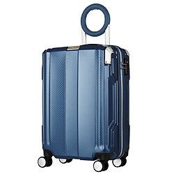 防犯ブザー搭載スーツケース 35L TRAVEL BUZZER(トラベルブザー) ネイビー 6708-49-NV [TSAロック搭載]