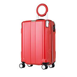 防犯ブザー搭載スーツケース 35L TRAVEL BUZZER(トラベルブザー) レッド 6720-49-RD [TSAロック搭載]