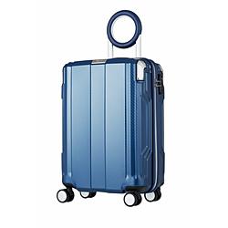 防犯ブザー搭載スーツケース 35L TRAVEL BUZZER(トラベルブザー) ネイビー 6720-49-NV [TSAロック搭載]