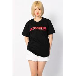 オリジナルTシャツ-黒-ロゴレッド