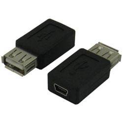 [USB-A(メス) → mini USB(メス)]変換アダプタ 変換名人 USBAB-M5BN