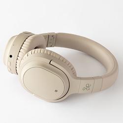 AG ブルートゥースヘッドホン  クリーム AG-WHP01KCR [マイク対応 /Bluetooth /ノイズキャンセリング対応]