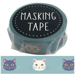 マスキングテープ ネコ W01-GMT-0008