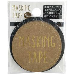 マスキングテープ 4mm Black W01-MT4-0002