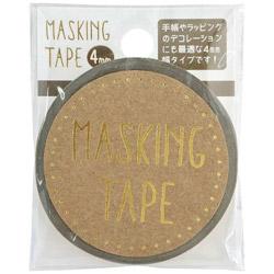 マスキングテープ 4mm Gold W01-MT4-0003