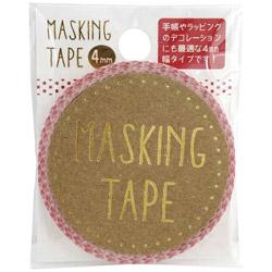 マスキングテープ 4mm ピンドット W01-MT4-0012