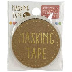 マスキングテープ 4mm カラフルドット W01-MT4-0013