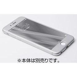 iPhone 6用 W-FACE High Grade Glass&Aluminum Screen Protector シルバー DG-IP6FAG4FSV