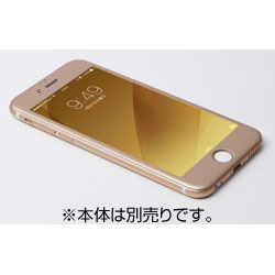 iPhone 6用 W-FACE High Grade Glass&Aluminum Screen Protector ゴールド DG-IP6FAG4FGD