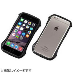 iPhone 6s/6用 CLEAVE Carbon & Aluminum Bumper Hybrid ブラック DCB-IP6SA6CABK