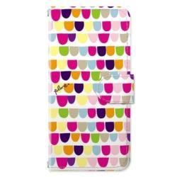 iPhone 8 / 7 / 6s / 6用 手帳型ケース カラフルウロコ PL-BKI7-137