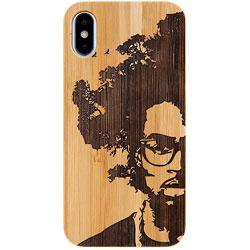[iPhone XS/X専用]kibaco BAMBOO RUBBER CASE 663-103729 AFRO TREE