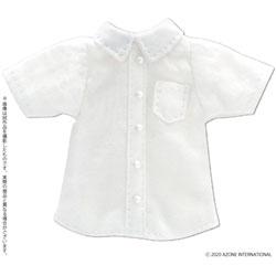 1/12 ピコニーモ用 半袖シャツ ホワイト ドールウェア