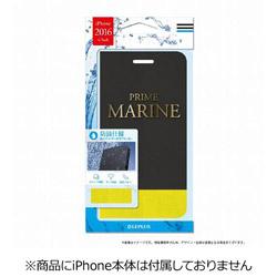 iPhone 7用 PRIME Marine 撥水PUレザーケース ブラック・イエロー LEPLUS LP-I7LPRBK