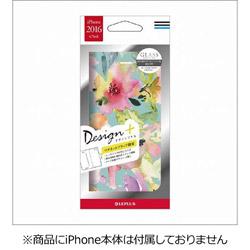 iPhone 7用 Design+ PUレザーケース Flower カラフル LEPLUS LP-I7LD06