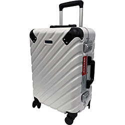 スーツケース 32L ワールドトラベラー(World Traveler) エラコール ホワイト WORLD-409606 [TSAロック搭載]