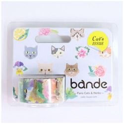 マスキングロールステッカー Paris Cats&Herbs BDA314