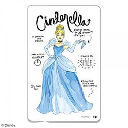 『ディズニーキャラクター』/ ICカード ステッカー IN-DICS/CN001 『プリンセスのプロフィール/シンデレラ』