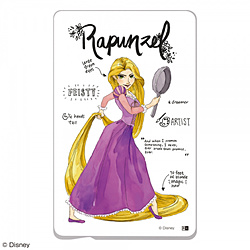 『ディズニーキャラクター』/ ICカード ステッカー IN-DICS/RZ001 『プリンセスのプロフィール/ラプンツェル』