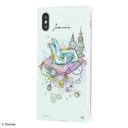 iPhone XS / X /『ディズニーキャラクター OTONA』/耐衝撃ガラスケース KAKU SILK/『ジャスミン/OTONA Princess』 IQ-DP20K2C/JA001