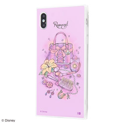 iPhone XS Max /『ディズニーキャラクター OTONA』/耐衝撃ガラスケース KAKU SILK/『ラプンツェル/OTONA Princess』 IQ-DP19K2C/RZ001