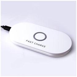 アイキューラボ 無接点[Qi対応] CONSON Qi対応 Wireless Charging Plate ホワイト WC-FC-P-WH