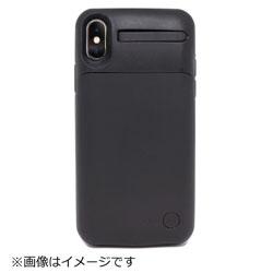 YOGEE YOGEE Qi対応ワイヤレス充電器一体型モバイルバッテリー内蔵ケースforiPhoneX 4400mAh YG-WBC-BK ブラック